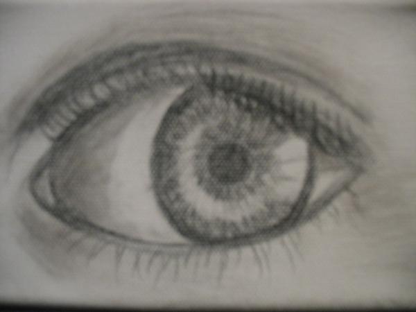 Mon oeil noir te regarde